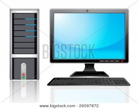 Computer And Monitor