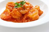 Shrimp in chili sauce
