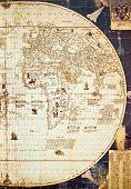 foto of eastern hemisphere  - Reproduction of historical world map  - JPG