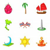 New Discovery Icons Set. Cartoon Set Of 9 New Discovery Icons For Web Isolated On White Background poster