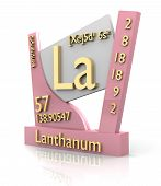 Lanthanum Form Periodic Table Of Elements - V2 poster