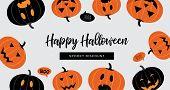 Halloween Sale Banner. Website Spooky Header Or Banner With Halloween Pumpkins. Great For Banner, Vo poster