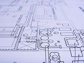 foto of mechanical engineering  - engineering plans close  - JPG