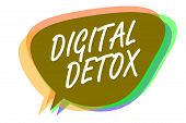 Word Writing Text Digital Detox. Business Concept For Free Of Electronic Devices Disconnect To Recon poster