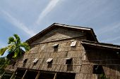 stock photo of longhouse  - longhouse in sarawak   - JPG