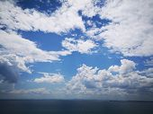 Beauty In Nature Blue Cloud - Sky Day Environment Horizon Horizon Over Water Idyllic Meteorology Non poster
