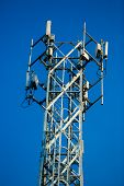 Mobile Reciever And Transmitter Antenna Tower poster