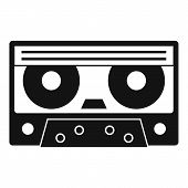 Audio Cassette Tape Icon. Simple Illustration Of Audio Cassette Tape Icon For Web poster
