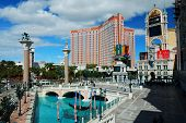 LAS VEGAS - MAR 4: Treasure Island located in the center of Vegas Strip with 2,664 rooms and 220 sui