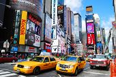 NEW YORK CITY - SEP 5: Times Square, featured with Broadway Theaters and LED signs, is a symbol of N