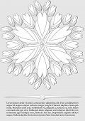 Elegant Abstract Background, White Fantasy Flower Shape On Light Gray Background, Low Contrasting Le poster