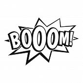 Boom, Explosion Bubble Icon. Simple Illustration Of Boom, Explosion Bubble Icon For Web poster