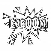 Kaboom, Comic Book Explosion Icon. Outline Illustration Of Kaboom, Comic Book Explosion Icon For Web poster
