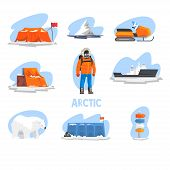 Expedition To The Arctic Set, Polar Explorer, Research Station, Snowmobile, Ice Breaker, Crossroad D poster