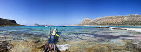 foto of greek-island  - Beautiful beach in Crete - JPG