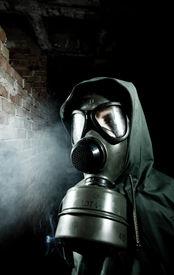pic of s10  - Man wearing respirator or gas mask - JPG