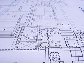 picture of mechanical engineer  - engineering plans close  - JPG