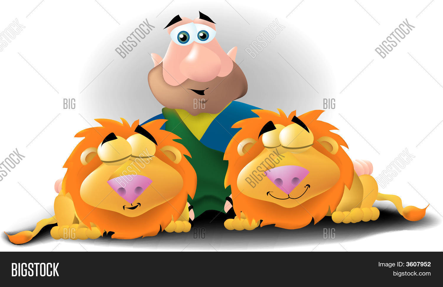 Clipart Of Daniel And The Lions Den