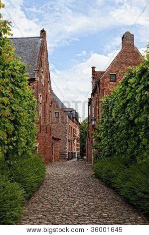 Monuments of architecture of Belgium leuven begijnhof