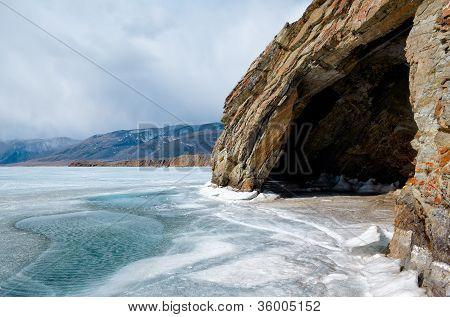 Cave At Baikal Lake