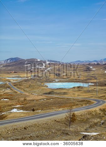 Road In Siberian Landscape