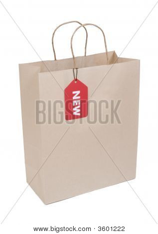 Shopping Bag With Red New Tag