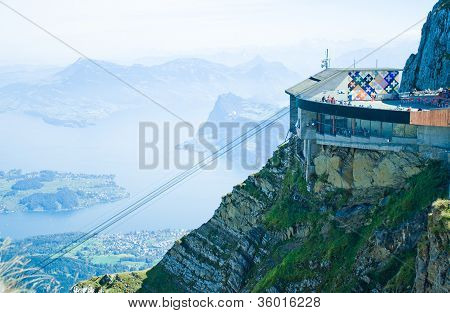 A view from the mountain Pilatus