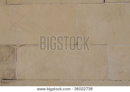 Stonewall With Sandstone