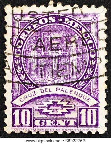 Postage stamp Mexico 1935 Cross of Palenque