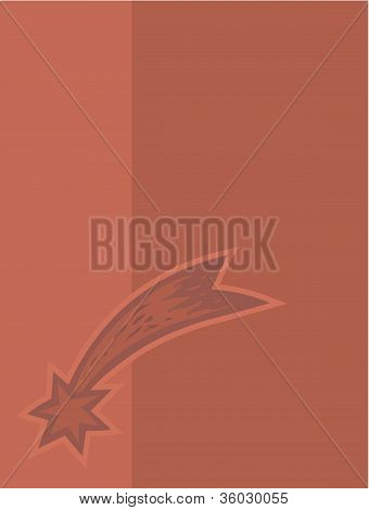 Shooting Star On Taupe Background