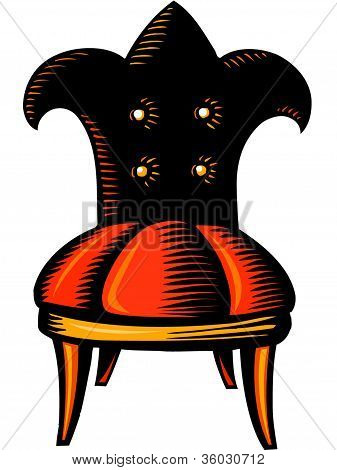 Illustration Of A Jester's Chair