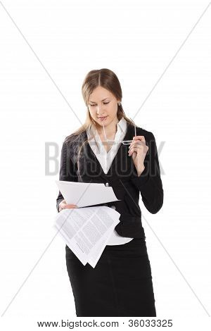 Woman Reading Model Release Document