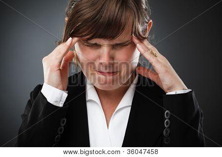 Businesswoman With Headache
