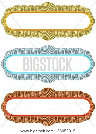 Blank Globular Frames On White Background