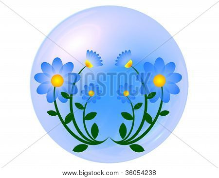 Blue flower ball