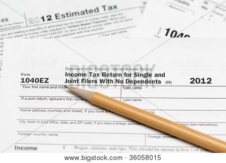 Usa Tax Form 1040Ez For Year 2012