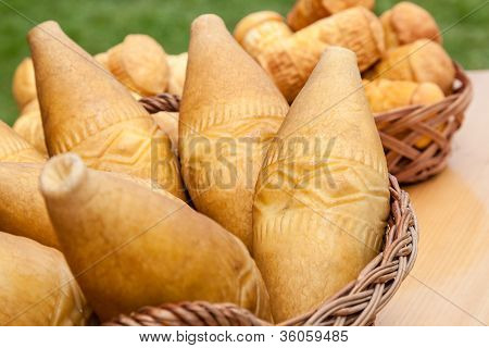 Famous Polish Cheese Of Tatra Region