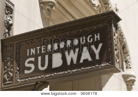 Interborough Subway Sign