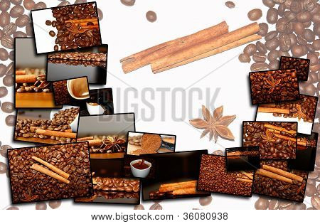 background of different coffee motives
