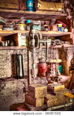 HDR of an old workshop