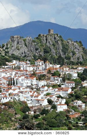 Casares Pueblo In Andalucia Spain Nestled In The Rocks
