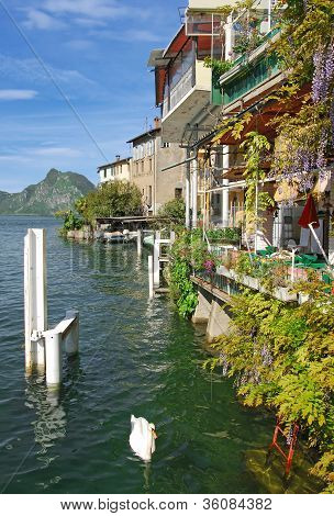 Gandria,Lake Lugano,Switzerland