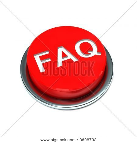 Faq Isolated Red Button