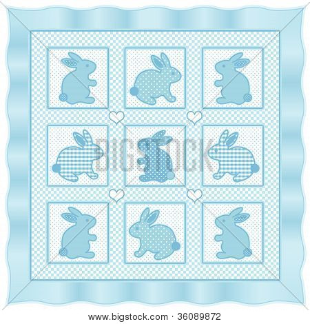 Baby Bunny Rabbits Quilt