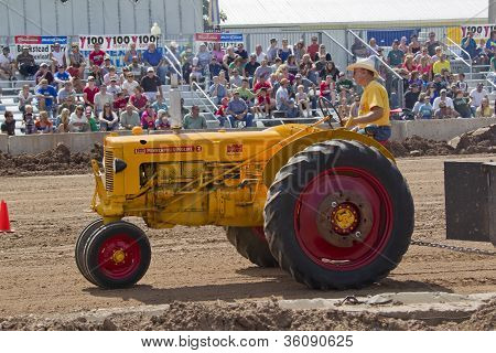 Yellow Minneapolis Moline Tractor