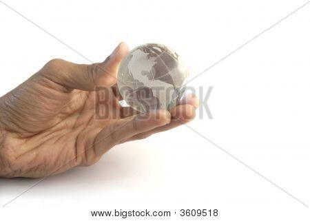 Hand Gripping Globe