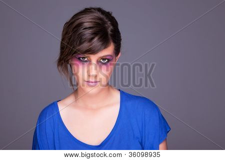 Beautiful Woman, Looking To Camera,  Studio Shot