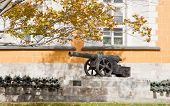 stock photo of arsenal  - Ancient gun near the Arsenal in territory of the Moscow Kremlin - JPG