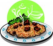 pilaf (rice with meat)