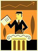 Постер, плакат: Бизнесмен на фондовом рынке